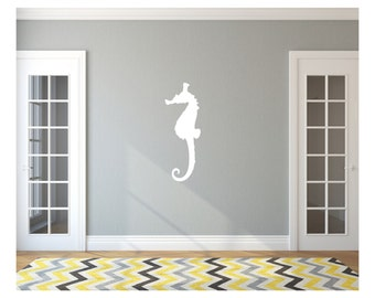 Seahorse Style B Large Vinyl Wall Decal 22566 | Beach Wall Decals | Beach Decor
