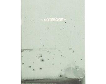 Nigrum Unda #3 gold notebook - pastel green and black cover - letterpress golden foil GLD5003
