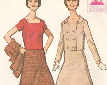 Courrèges-look skirt suit & blouse pattern -- McCall's 7936