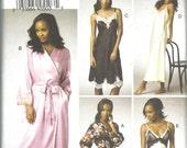 Vogue Pattern 9015 Misses Robe and Chemise Lingerie (6 - 14) UNCUT
