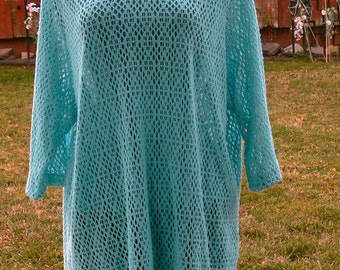 plus size  turquise  sweater size 1 x