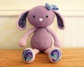 Ready to Ship- Crochet Bunny, Amigurumi bunny rabbit, stuffed animal toy, baby gift
