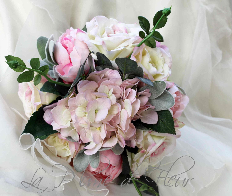Shabby chic bridal bouquet wedding bouquet cottage garden for Bouquet chic