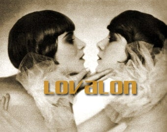 Kiss Kiss... 1920's Vintage Glamour Fashion Photo... Deluxe PRINT... Available In Various Sizes