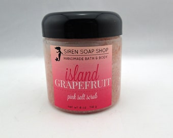 Island Grapefruit Pink Sugar Scrub, Body Scrub, Sugar Scrub, Grapefruit