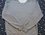 Vintage 80s Heather Gray RUSSELL ATHLETIC Sweatshirt Made in USA