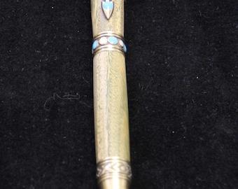 Handturned Wooden Ball-point Southwestern Themed Pen – Lignum Vitae