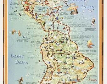 Vintage Pan Am Airline Poster 1936. PanAm On the Routes of the Flying Clipper Ships. Instant Download - Printable Poster