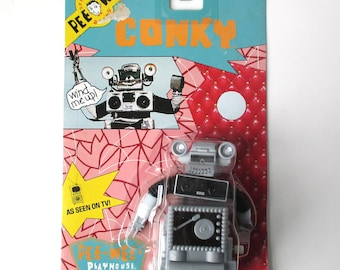 Conky Robot Wind Up Figure, Pee Wees Playhouse, Pee Wee Herman, Mint 1988