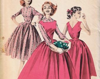 1950s Rockabilly Dress, Vintage Sewing Pattern, Butterick 8041, Uncut Factory Folded
