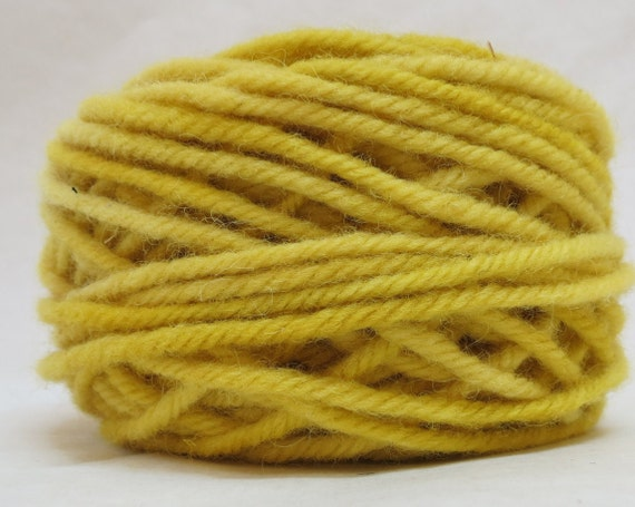 SUNFLOWER, 100% Wool, 2 oz. 43 yards, 4-Ply Bulky weight or 3-ply Worsted weigh yarn, already wound into cakes, ready to use. Made to order