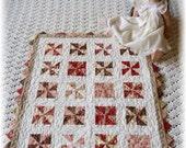 Pinwheel Doll Quilt  - Vintage Look