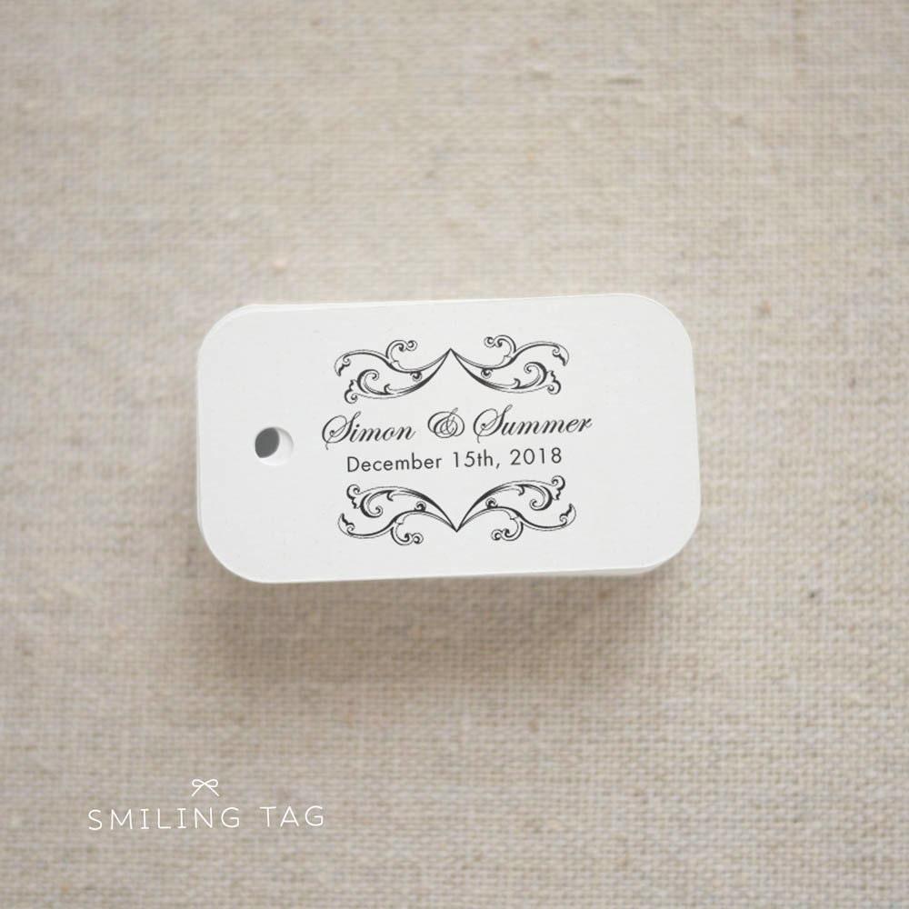 Personalised Wedding Gifts Vintage : Vintage Elegance Custom Wedding Gift Tags Thank you Wedding