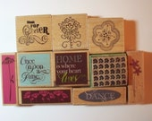 Rubber Stamp Lot  -  Alphabet  and mixed themes - Scrapbooking - Card Making - Unused - Clearance Sale