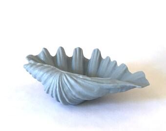 Antique Blue Porcelain Clam Shell