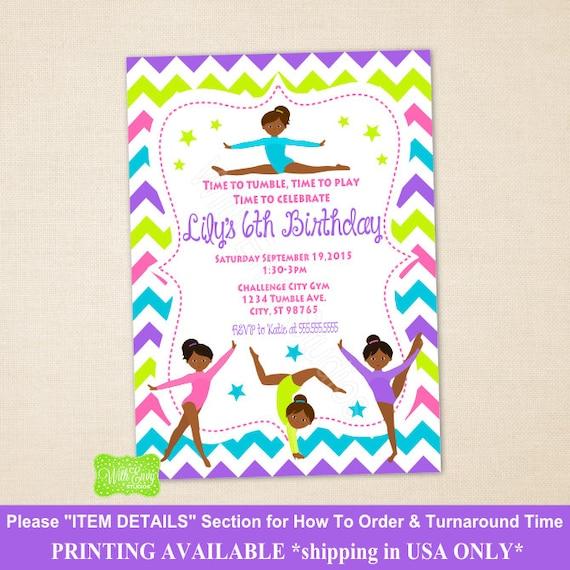 Gymnastics party invitation gymnastic birthday party invitation il570xn stopboris Image collections
