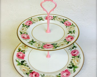 Royal Worcester Royal Garden 2 tier Cake Stand