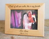Custom Engraved Father of the Bride Picture Frame: Father of the Bride Gift, Personalized Father of Bride Gift, Bride's Dad, SHIPS FAST