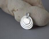 PMC pendant , Geometrical necklace , Minimalist , Fine silver necklace ,  Hexagon Pendant , .999 , Metal clay jewelry , Everyday jewelry