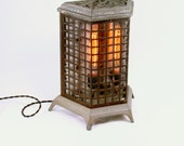 Table Lamp Upcycled Vintage 1930s Heater