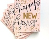 s/6 Happy New Year boxed card set