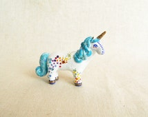 Rainbow Unicorn figurine. One of a kind.