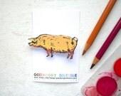 Pig Brooch Cute Brooch Pig Pin