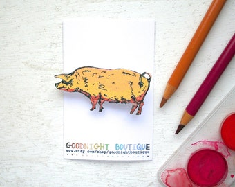 Pig Brooch Cute Brooch Pig Pin