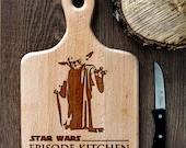 Stars Wars cutting board -  Yoda Wooden Cutting Board Laser Engraved - Personalized Engraved Cutting Board