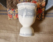 English Cottage Double Egg Cup, Dorset and Welford Cottages in England