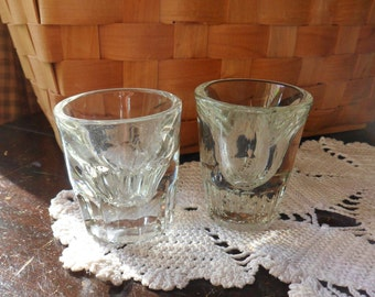 Pair of Shot Glasses, Single Shot Glasses with Sham Bottoms