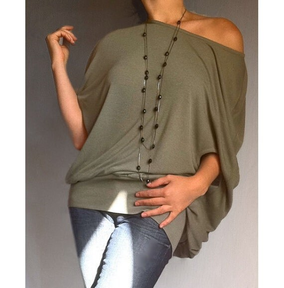 Loose Off Shoulder Top Plus Size Top Wide Neckline Shirt Scoop