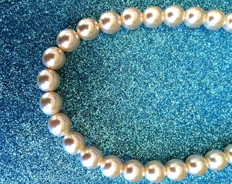 Pearl Glass Necklace-Wedding Bridal Jewellery-Handmade Necklace-Gifts for women-Gifts for her-Ladies Jewellery-Handmade Pearl Necklace
