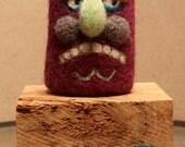 Naughty Bunch needle felted figurine OOAK