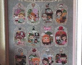Cute modern cross stitch pattern/kit - Story Time Classic by the Frosted Pumpkin Stitchery, fairy tales patterns, story book patterns, 14 CT