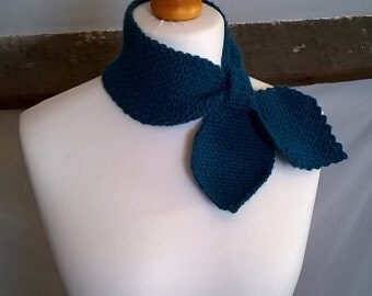 Crochet Keyhole Ascot Scarf - Made To Order - Choice of Colour