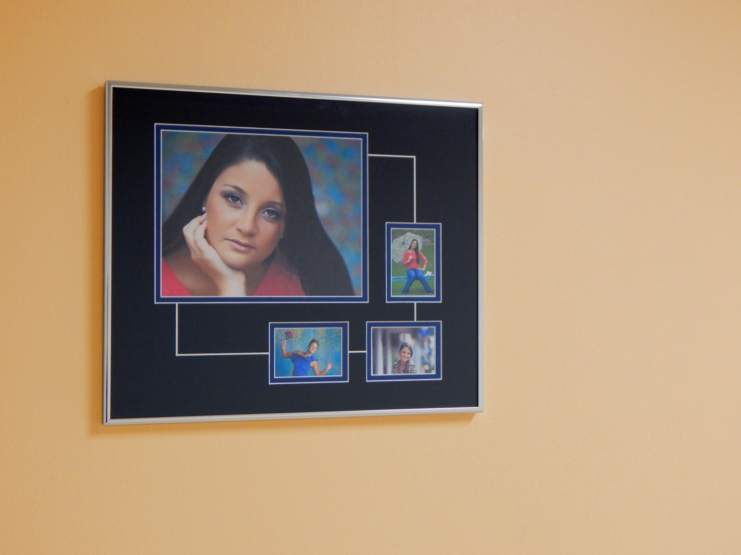 Senior Picture Collage Frame With Line Detail