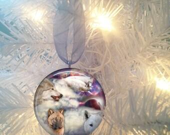 Wolf #7 Christmas Tree Ornament