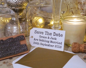 Save The Date Personalised Rubber Stamp