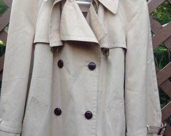 Vintage Etienne Aigner Trench Coat 70s 80s era