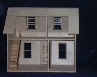 DOLLHOUSE, BUILT, Just Add Miniatures, Scale One Inch