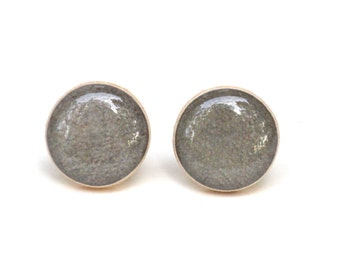 Gravel grey stud earrings, grey studs, grey post earrings, fall studs, twig, woodland, fall fashion, gift for her mom gift