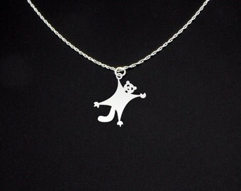 Flying Squirrel Necklace - Flying Squirrel Jewelry - Flying Squirrel Gift
