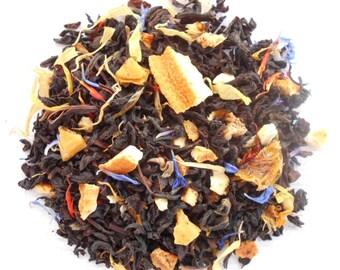 CALYPSO BREEZE Mango Pineapple Tea, Organic Loose Black Tea, Iced Tea, Sweet Tea, Fruity Tea, 1oz Earth Friendly Packaging
