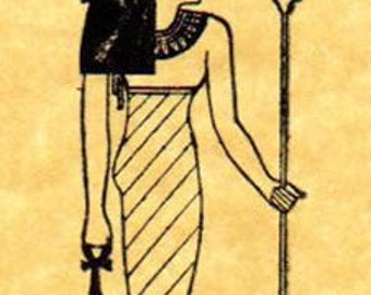 Egyptian Goddess Hathor Rubber Stamp