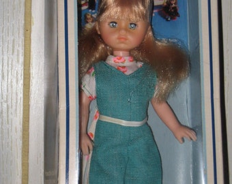 Vintage 1978 Ginny Doll SALE New In Package Over Stock Mint Overalls Blouse