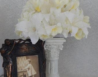 Table Centerpiece- Silk Flower Wedding, Reception, In Loving Memory Table Decor
