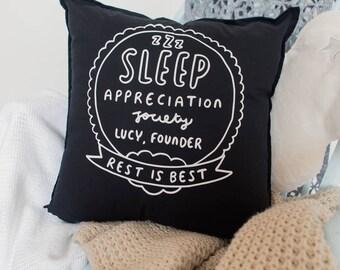 Sleep Appreciation Society Personalised Cushion Cover