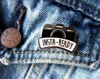 Insta-Ready Enamel Pin - Camera Pin