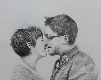 Anniversary Pencil Portrait